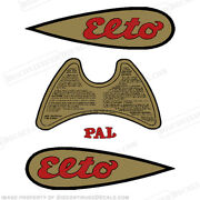 Elto Pal 1937-1941 .9hp Scout Decal Kit - Discontinued Decal Reproductions