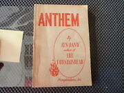 Anthem By Ayn Rand. The First American Edition, First Printing In Wrappers. 1946