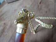 Necklace Perfume Bottle Big Horn Sheep Cap Frost Glass Boot