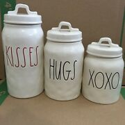Rae Dunn Kisses Hugs And Xoxo Canister Set Rae Dunn 2017 Valentines Day Set