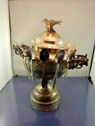 Bird Finial Spooner Sugar Bowl By The Acme Silver Plate Co Toronto 153 As Is