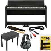 Korg C1 Air Bluetooth 88 Key Digital Piano Brown +bench+headphone+cover And Cable