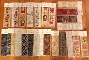 Christmas Ribbons 2.5 Inches X 17 Inches - 25 Different Ribbons New Decorative