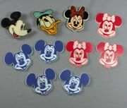10 Vtg Disney Refrigerator Magnets Donald Duck Mickey Mouse Minnie Mouse