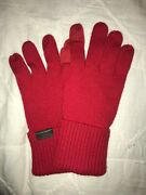 Coach Wool Mittens/red/new