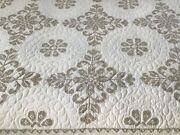 Vintage Hand Sewn And Hand Embroidered Quilt Queen Size Approximately 80 X 95 Q1
