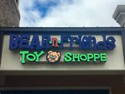 Storefront Light Up Sign-bear N Friends Toy Shoppe 33 Height X 11' Length 600