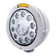 Stainless Steel 7 Led Bullet Headlight With Amber Lens / Single Function