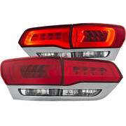 Anzo For 2014-2015 Jeep Grand Cherokee Led Taillights Red/clear - Anz311250