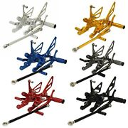 Adjustable Rearset Foot Rest Pegs Kit For Yamaha Yzf R1 Rn01 Rn04 Rn09 1998-2003