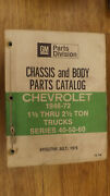 1946-1972 Series 40,50,60,80 Chevrolet Truck Chassis And Body Parts Catalog Manual