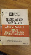 1966-1972 Series 70000, 80000 Chevrolet Truck Chassis And Body Parts Catalog Chevy