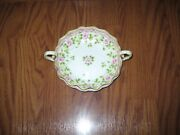 Nippon Morimura Hand Painted Gold Gilt Rose Pattern Candy Dish Green Marking