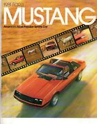 1981 Ford Original Mustang Sales Catalog - . From The Dealerand039s Shelves