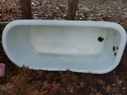 Antique White 1916 Cast Iron Claw Foot Bath Tub-local Pickup Only