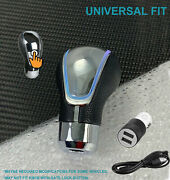 Touch Activated Sensor White Led Light Usb Charge Auto Gear Shift Knob 6