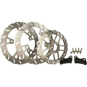 Trask Tm-2950 Double Xl 13 Wave Front And Rear Rotor Brake Kit 14-19 Harley Flh/t