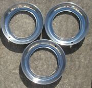 Group Of 3 Vintage Trim Rings Stainless Steel For 1940and039s 1950and039s Dodge Plymouth