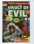 Vault Of Evil 1 Cents Issue Gil Kane And Tom Palmer Cover Feb 1973 Vf+