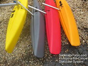 2 Canoe Stabilizer Floats And Arms For Sail Kits, Diy Projects, Or Accessory Seat