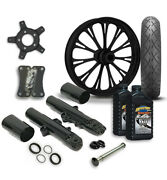 Rc 21 Imperial Wheel Tire And Complete Black Front End Package Harley 14-19 Flh