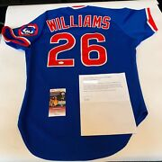 Rare Billy Williams Signed Game Used 1987 Chicago Cubs Jersey Jsa And Miedema Coa