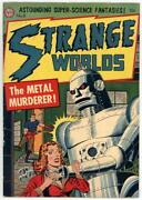 Strange Worlds 8 F 6.0 Classic Robot Cover. Scarce Issue 1952