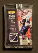 Tom Brady 1/1 Panini Instant 2016-17 Game Used Logo Patch One Of One 1of1