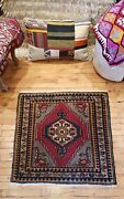 Beautiful Vintage 1960-1980and039s Wool Pile Natural Dyetribal Rug 2andrsquo6andrdquo X 2andrsquo9andrdquo