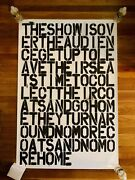 Christopher Wool And Felix Gonzalez-torres The Show Is Over Poster