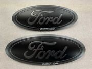 2015-2020 Ford F150 Custom Grille And Tailgate Emblem Flat Magnetic/ Flat Black