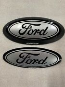 2015+ Ford F150 Custom Grille/tailgate Emblem Gloss Black/ Ignot Silver Ux