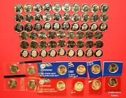 2000 - 2021 Pds 78 Roosevelt Dime Complete Uncirculated Satin And Clad Proof Set