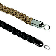 Barrier System Braided Rope 2diam.x60l Black Rope With Chrome Ends