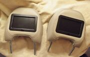 1999-06 Volvo S80 Front Seat Headrests With Dvd Monitors,