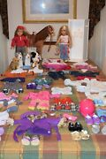 Huge Lot Of American Girl Gently Used 2 Dolls Lots Of Extras Excellent Cond.