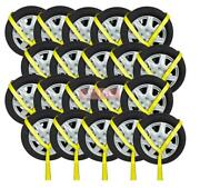 20 Pack 2x12and039 Winch Lasso Strap W/ O Ring Auto Tow Tie Down Wheel Net