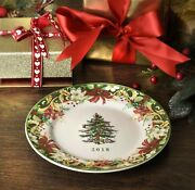 New Spode Christmas Tree 2018 Annual Collector Plate In Box