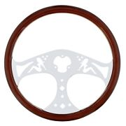 18andrdquo Real Wood Steering Wheel Rim Lady With 3 Chrome Spokes
