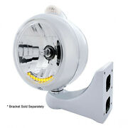 Ss Guide Headlight 10 Led Crystal H4 Bulb W Dual Function Amber Led/clear Lens