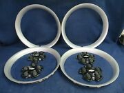 Chevy Camaro 10-13 Silver Trim Rings And Gloss Black Center Caps - Set Of 4 - Oem