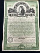 1000 Dollar General Mortgage Gold Bond Railway Company Series B W/ Pay Coupons