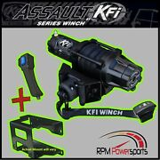 Kfi As-50w Wide Assault Winch And Mount Kit - 2012-2014 4 Seat Polaris Rzr 900