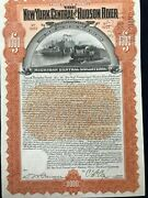 Ny Central And Hudson Railway Company 3 And 1/2 Coupon Gold Bond W/ Pay Coupons