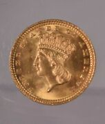 1883 One Dollar Gold Coin Choice Brilliant Uncirculated Full Mint Bloom Luster