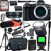 Canon Eos R Mirrorless Digital Camera With Professional Accessory Kit