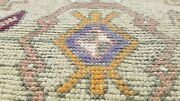 Primitive Antique 1900-1930and039s Wool Pile1and0399and039 X 2and03910 Vegy Dye Tribal Rug