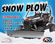 Kfi Utv 72 Snow Plow Kit Combo Can-am Defender 2016-2021 Hd8 Hd10 Dps Xt Max