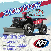 Kfi 54 Snow Plow Blade Mount Combo Kit Bombardier Quest Traxster 500/650
