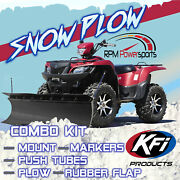 New Kfi 60 Pro Poly Snow Plow And Mount - 2012-2019 Can-am Renegade 1000 Atv